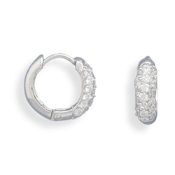 Glitzs - Rhodium Plated Hinged Earrings