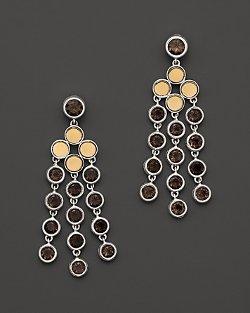 John Hardy  - Batu Dot Gold & Silver Chandelier Earrings