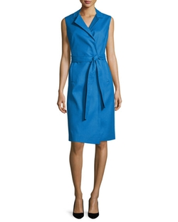 Escada  - Bartolini Sleeveless Belted Shirtdress