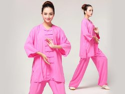 ICN Buys - Tai Chi Clothing Pure Cotton Half-sleeve For Women