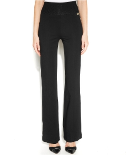 Calvin Klein - Pull-On Wide-Waistband Knit Pants