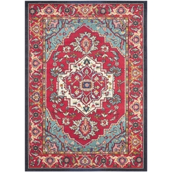Safavieh - Red and Turquoise Area Rug