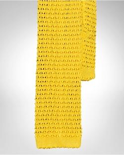 Ralph Lauren - Solid Knit Silk Tie