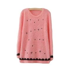Bluetime - Star Print Mohair Sweater