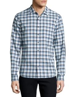 ATM   - Plaid Flannel Long-Sleeve Sport Shirt