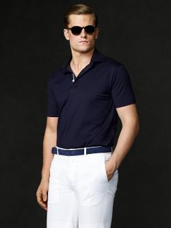 RALPH LAUREN PURPLE LABEL - Cotton Lisle Knit Polo