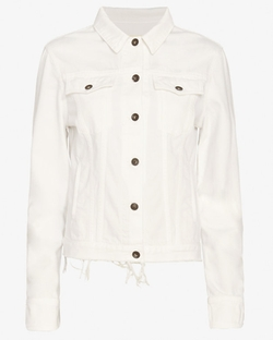 Rag & Bone - Frayed Denim Jacket:
