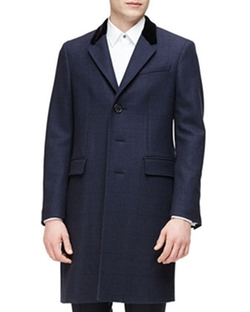 Burberry - Single-Breasted Plaid Overcoat