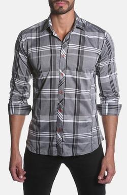 Jared Lang  - Trim Fit Plaid Sport Shirt