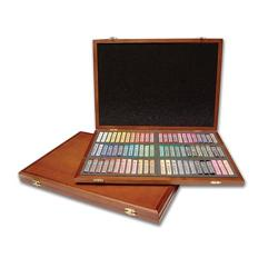 Martin Gallery  - Oil Pastel 72-Piece Color Set in Wooden Case