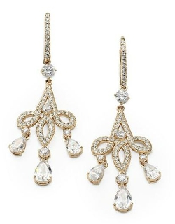 Adriana Orsini  - Pavé Crystal Chandelier Earrings