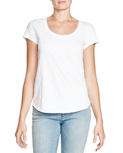 Eileen Fisher  - Organic Cotton Scoop Neck Tee