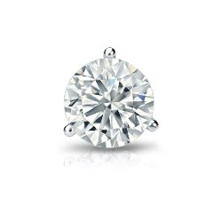 Diamond Wish - Martini Round Diamond Single Stud Earring