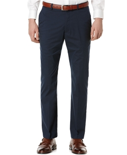 Perry Ellis - Slim-Fit Flat-Front Dress Pants