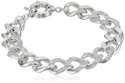 "CZ by Kenneth Jay Lane  - ""Trend"" Cubic Zirconia Link Bracelet"