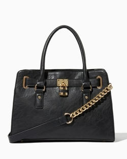 Charming Charlie - Lockbox Satchel Bag
