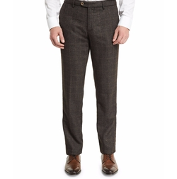 Etro - Plaid Wool-Blend Flat-Front Trousers