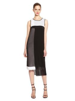 DKNY - Color Block Layered Dress
