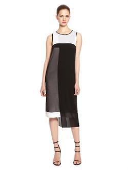 DKNY - Color Block Layered Dress