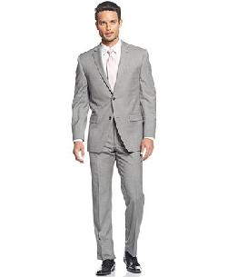 Marc New York by Andrew Marc  - Suit Grey Sharkskin Extra Slim Fit