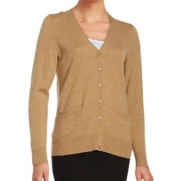 Lord & Taylor  - Merino Wool Button Front Cardigan