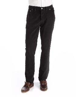 Black Brown 1826  - Slim Fit Cotton Corduroy Pants