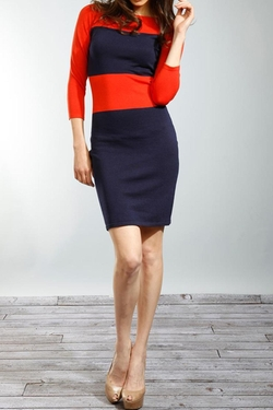 Young Threads - Colorblock Sweater Dress