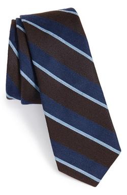 W.R.K. - Stripe Silk, Wool & Cotton Tie