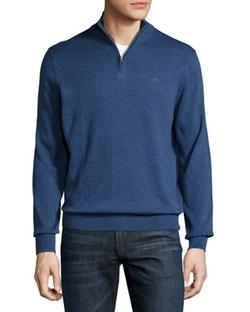 Lacoste - Classic Quarter-Zip Jersey Sweater