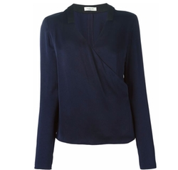 Mugler - V Neck Wrap Blouse