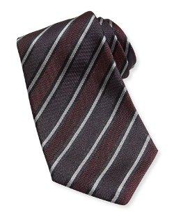 Kiton - Textured Stripe Woven Tie