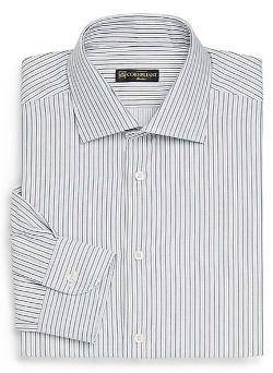 Corneliani  - Chain Striped Dress Shirt