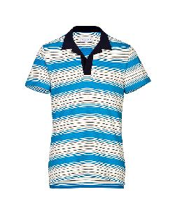 ORLEBAR BROWN  - The Stripe Cotton Maxim Polo in Marine