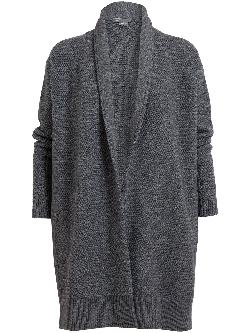 VINCE  - Wool-Yak Draped Cardigan