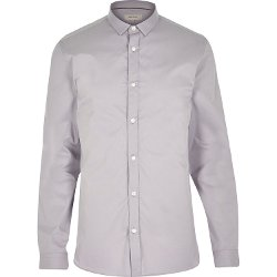 River Island - Grey Long Sleeve Shirt