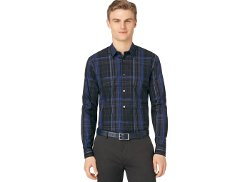 Calvin Klein - Road Map Plaid Shirt