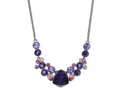 Givenchy - Purple Multi Crystal Medium Frontal Necklace