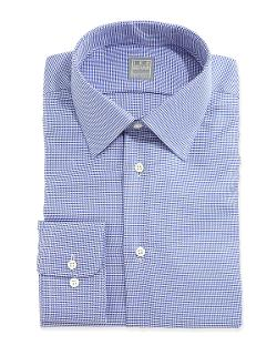 IKE BEHAR  - Long-Sleeve Texture Woven Dress Shirt