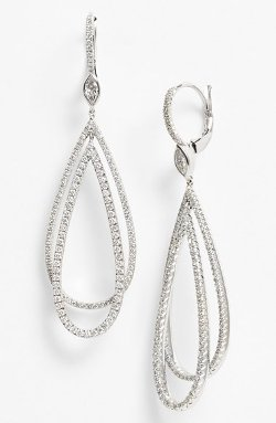 Kwiat  - Echo Diamond Teardrop Earrings