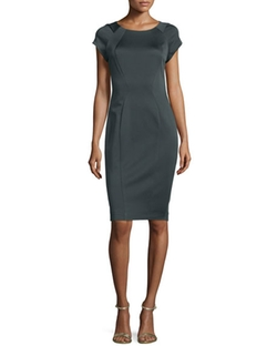 Zac Posen  - Carmen Cap-Sleeve Sheath Dress