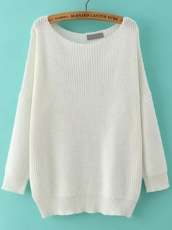 Romwe - Scoop Neck Sweater