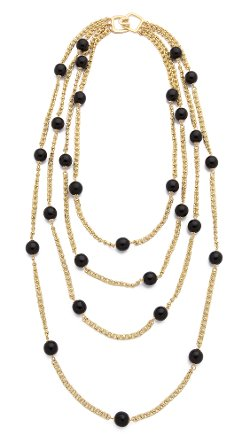 Kenneth Jay Lane  - Beaded Layer Necklace