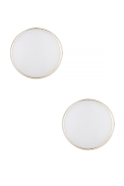 14th & Union  - Round Enamel Stud Earrings