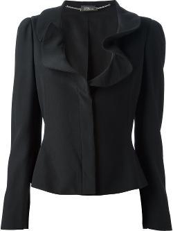 ALEXANDER MCQUEEN  - ruffle collar blazer