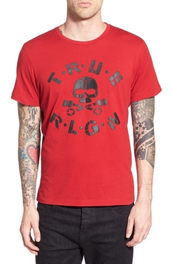 True Religion Brand Jeans  - Puff Skull Graphic T-Shirt