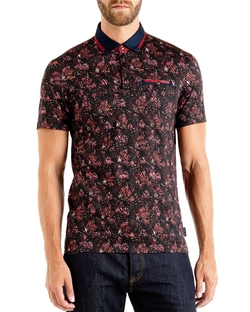 Ted Baker - Simorg Tropical Leaf Polo Shirt