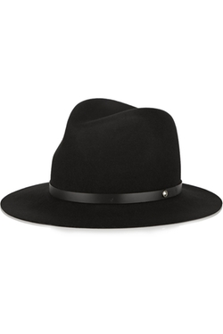 Rag & Bone - Leather-Trimmed Wool-Felt Fedora Hat