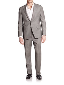 Saks Fifth Avenue Collection  - Samuelsohn Striped Wool Suit