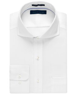 Tommy Hilfiger  - Non-Iron White Textured Solid Dress Shirt