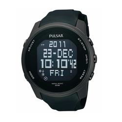 Pulsar  - Digital Black Polyurethane Strap Watch